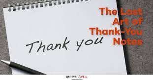 thank you notes the lost of thank you notes writer s org