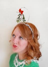 mistletoe headband christmas headband mistletoe headband tacky sweater