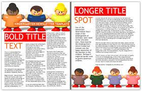 worddraw com free kindergarten newsletter template