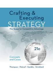 bank for crafting and executing strategy 21st edition by thompson