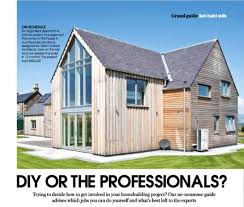 diy or hire the professionals for your self build allan