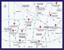 Map Of Dallas Fort Worth by Visit Our Pain And Injury Centers Throughout Northern Texas