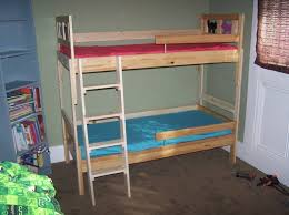 bedroom espresso wooden ikea bunk bed with couch underneath the