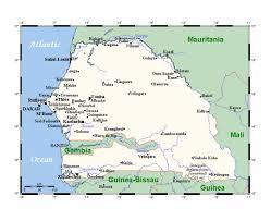 africa map senegal maps of senegal detailed map of senegal in tourist map