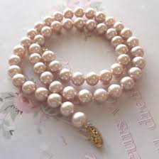 real pink pearl necklace images Pink 6mm freshwater pearl necklace with 9ct gold clasp 199 00 jpg