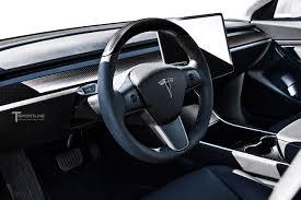 tesla model 3 carbon fiber interior accessories concept by t