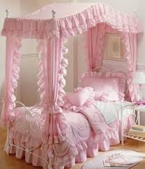 Pink Canopy Bed Girly Bedroom Fluffy Pink And Dreamy I Wanted This Room
