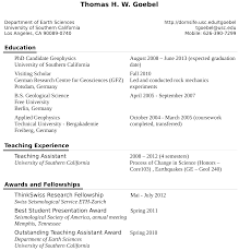 What Difference Between Resume And Cv Curriculum Vitae U003e Thomas Goebel Usc Professional Site U003e Usc