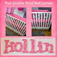 the funky letter boutique adoable pink giraffe safari wall letters