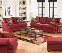 Microfiber Living Room Sets Delightful Decoration Red Living Room Chairs Majestic Red