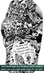 angel versus demon tattoos custom tattoos made to order by juno