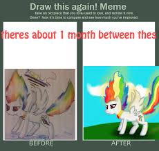 Rainbow Dash Meme - meme before and after super rainbow dash by super dash on deviantart