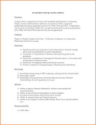 Examples Of Resume Qualifications by Statement Of Qualifications Example Sample Resume Qualification