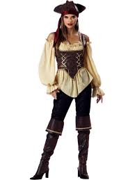 Gold Vest Womens Womens Pirate Costumes Pirate Halloween Costume For Women