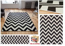 Black And White Zig Zag Rug All Sizes Chevron Malmo Utility Rugs Hall Runners Zig Zag