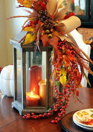 thanksgiving centerpiece ideas berry autumn and leaves
