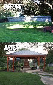 backyard paradise lancaster pa before u0026 after c e pontz sons