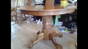 Round Dining Table Oak Round Dining Table Carved Lion Shape Extendable Solid Oak 105