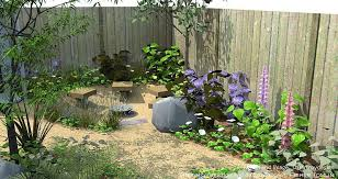 ideas for gravel landspace decorating style for small garden