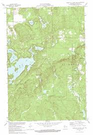 Wisconsin State Map by Upper Eau Claire Lake Topographic Map Wi Usgs Topo Quad 46091c4