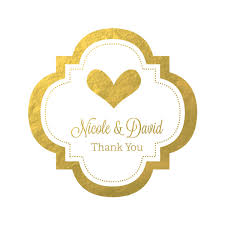 labels for wedding favors gold wedding favors