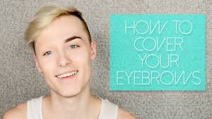 what to use for halloween makeup how to cover your eyebrows with makeup for halloween drag youtube