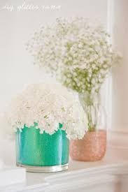 How To Design Flowers In A Vase Diy Glitter Vases The Sweetest Occasion