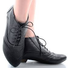 s boots lace black steunk lace up perforated womens flat