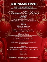 christmas eve dinner menu learntoride co