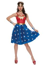 Womens Costumes Deluxe Long Dress Wonder Woman Costume For Women
