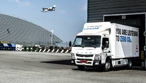 truck mitsubishi canter mitsubishi e cell electric truck completes trials