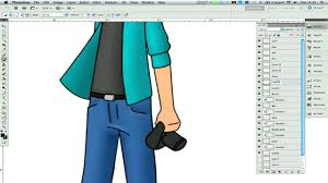 photoshop tutorial how to draw cartoons in adobe photoshop with