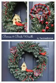 berries u0026 birds holiday wreath