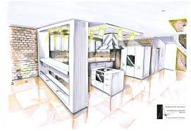 Kitchen Design Sketch Internal Architectural Sketch For House Architecture Artnmeal