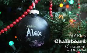 diy chalkboard ornament a owl