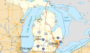 Map Of Chicago Suburbs Interstate 75 In Michigan Wikipedia