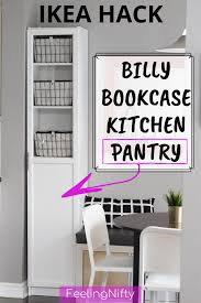 ikea kitchen cabinets free standing the easiest diy kitchen pantry cabinet with the ikea billy