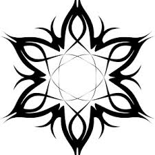 tribal tattoo vector flower freevectors net
