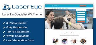 laser eye specialist clinic wordpress theme u0026 template inkthemes