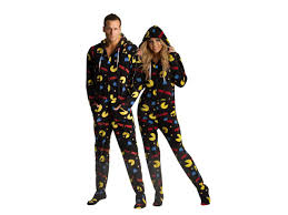 onesies for adults halloween pac man hooded footie pajamas for adults my style pinterest