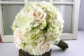 White Hydrangea Bouquet Blue And White Wedding Bouquets Bb0889 All White Hydrangea Rose