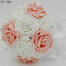 online get cheap wedding bouquet flowers white aliexpress com