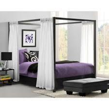 Black Canopy Bed Metal Modern Canopy Beds Frames Ebay