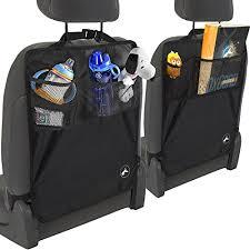 Van Seat Upholstery Oxgord Kick Mats Back Seat Protector W Storage Organizer Pocket