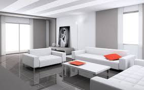 contemporary living room furniture ideas with white leather sofa