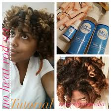 perm left to dry naturally on medium to long hair no heat cold wave rods on natural hair tutorial