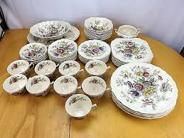 johnson brothers china sheraton pattern dinnerware 58 set