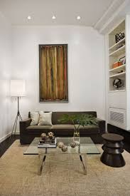 Simple Apartment Decorating Ideas by Small Studio Apartment Decorating Ideas With Simple Brown Sofa And