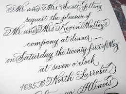 wedding calligraphy by jane farr 40th birthday dinner party