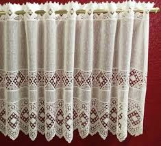 24 Inch Kitchen Curtains Decoration Nautical Lace Curtains 3 Kitchen Curtain Set 24